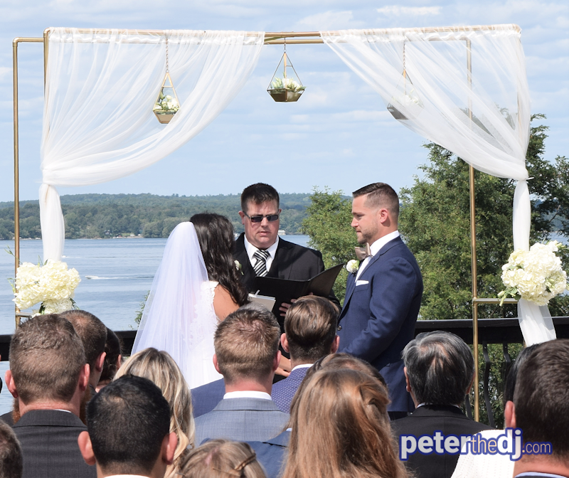Amy And Michael Get Married With The St Lawrence River Thousand Islands As A Backdrop On Beautiful Day