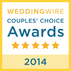 WeddingWire Couples Choice Award 2014